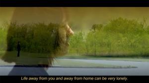 "Screengrab of a transition between scenes of ""Caro Babbo,"" a student short film shot in Tulsa, Oklahoma"